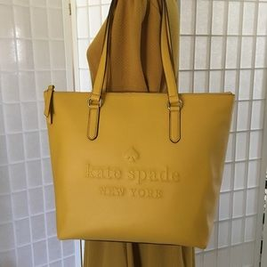 Kate Spade Daffodil Penny Leather Tote Bag